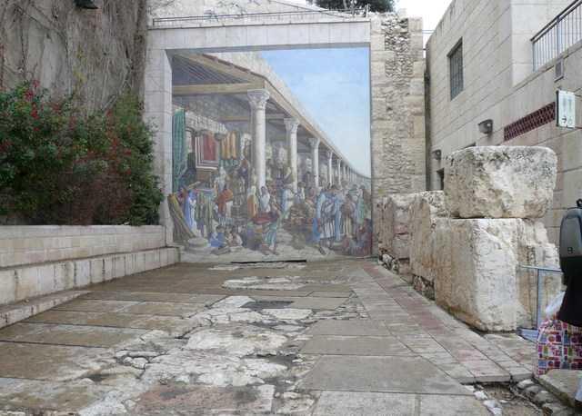 Trompe l\'oeil, fresque à Jérusalem - Voyages et nature chez Joëlle