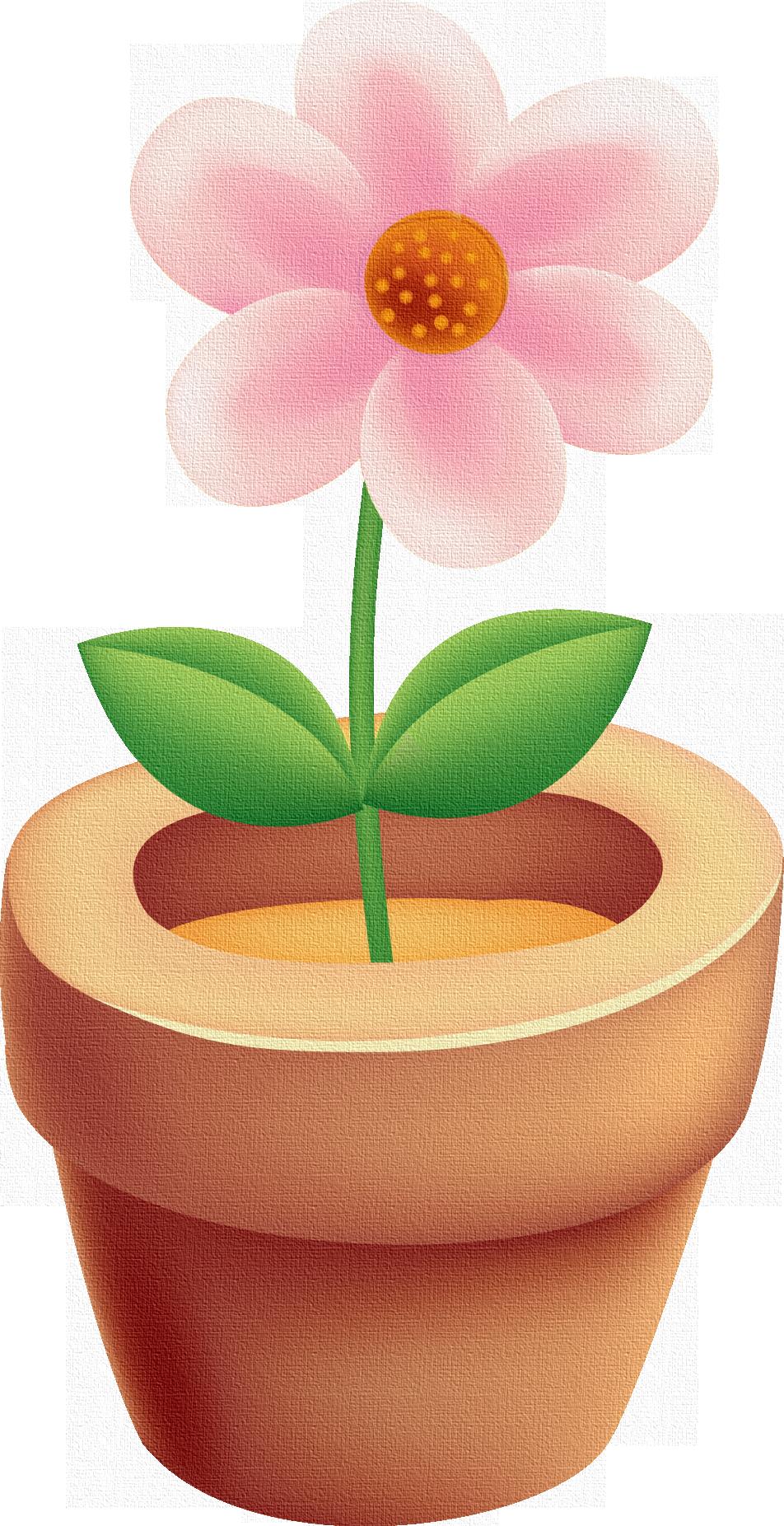 Im genes infantiles maceta y flor rosa - Flores de maceta ...
