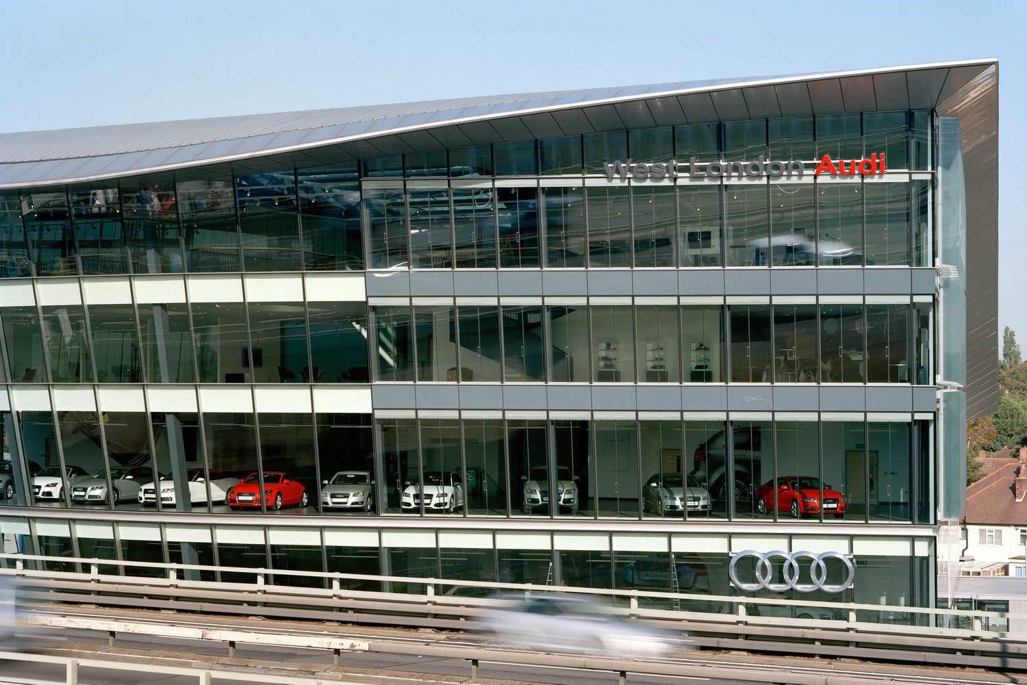 the largest audi dealership of the world audi west london uk only cars and cars. Black Bedroom Furniture Sets. Home Design Ideas